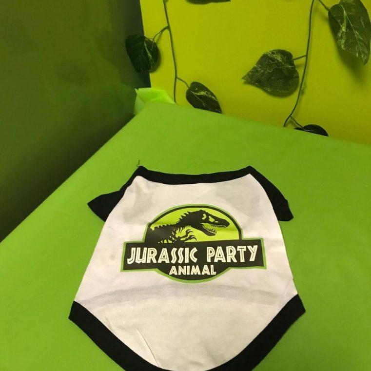 Cotton Dinosaur Dog Shirt